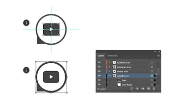 how to complete the YouTube vector icon