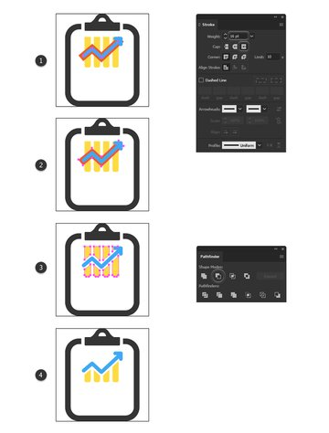 how to create a chart minimal icon