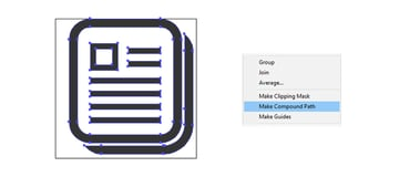 final two pages report icon design