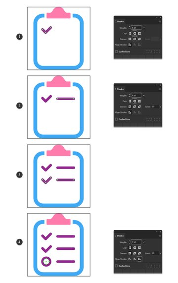 how to create writing minimal icons on report icon