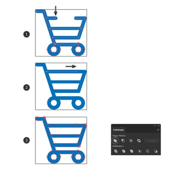 how to make new cart minimal icon