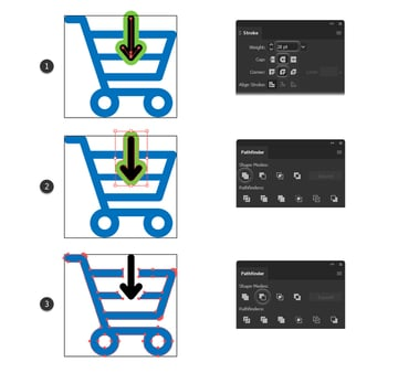 how to cut the purchase icon design