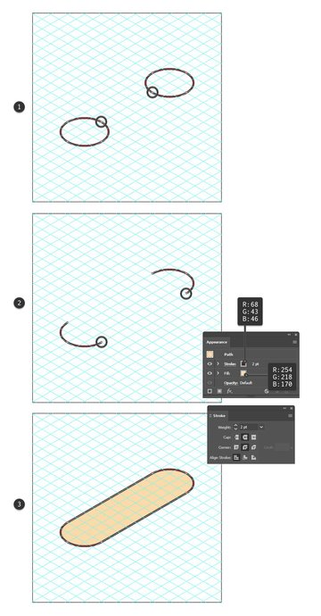 how to create an isometric rounded rectangle in Illustrator