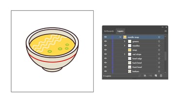 final image of the isometric soup food icon