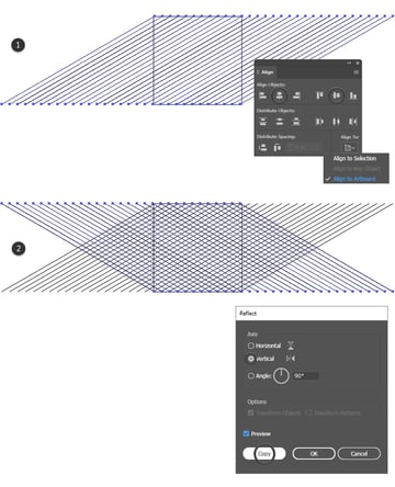 how to reflect isometric lines on your artboard