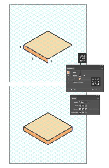 how to draw the bottom bread of the isometric food icon