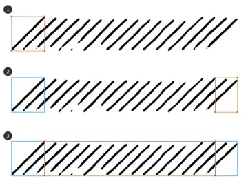 how to define the sections of a pattern brush in Adobe Illustrator