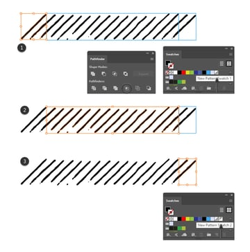 how to cut sections of the pattern brush in Adobe Illustrator