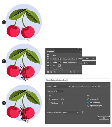 how to create texture and shading on fruit in Illustrator