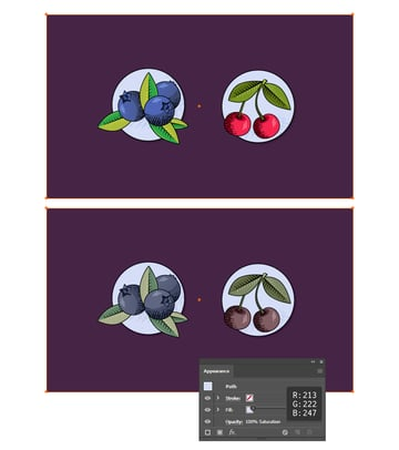 how to desaturate an illustration in Adobe Illustrator