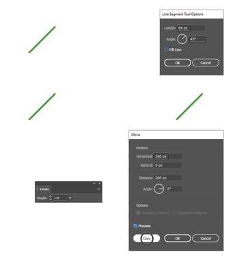 how to create two stripes in Illustrator
