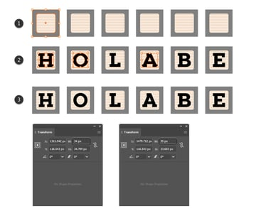 how to add the baby block font on the square symbols in Illustrator