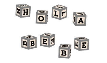 how to apply all block font symbols on the baby blocks