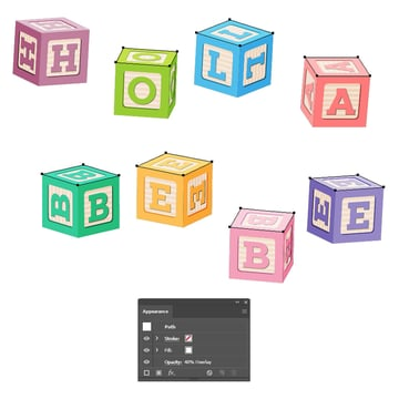 how to create highlight on top of all baby blocks