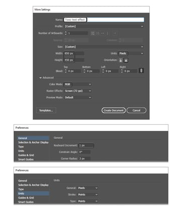 how to create a new Illustrator document