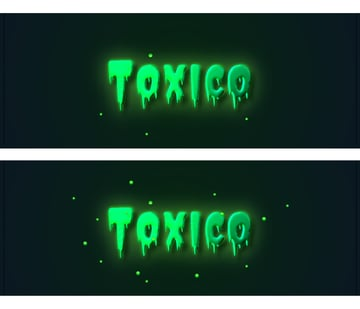 how to create glowing particles around the glow text effect