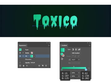 how to color the text in Illustrator