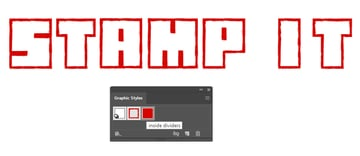 How to save the distressed Hanko stamp look as a Illustrator graphic style