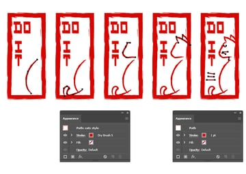 How to create another sitting down Hanko cat character in Illustrator