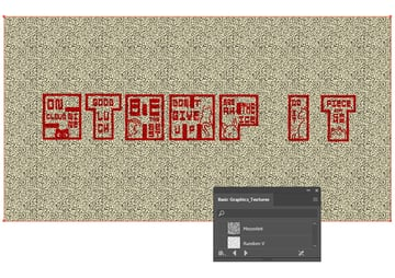 How to create a stamp vector texture using Illustrator pattern