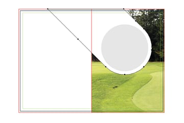 how to distort circles on right fold of illustrator brochure