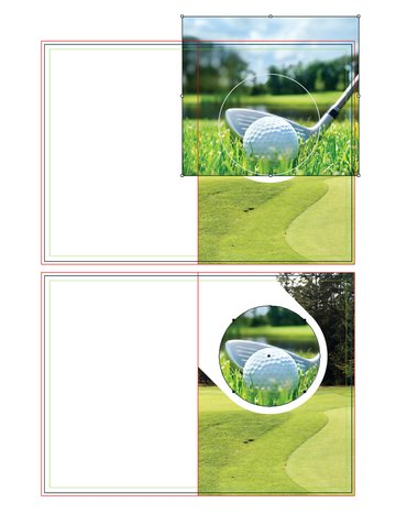 how to place second image on right fold of illustrator brochure