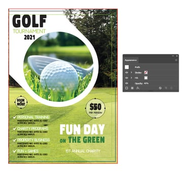 how to highlight info on right front brochure template in illustrator