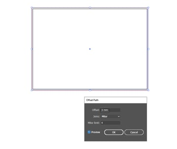 how to set up the brochure layout bleed area