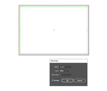 how to set  up a brochure layout safe area