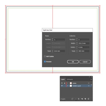 how to create a half fold brochure template in illustrator
