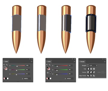 how to make a bullet in Adobe Illustrator for army text