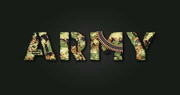 military stencil font final image text effect