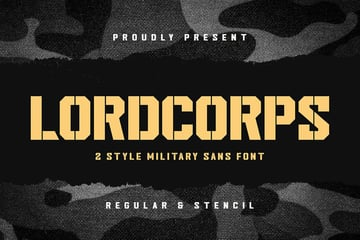 first military stencil font recommendation from Envato Elements