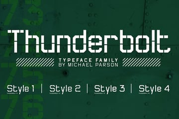 third military stencil font recommendation from Envato Elements