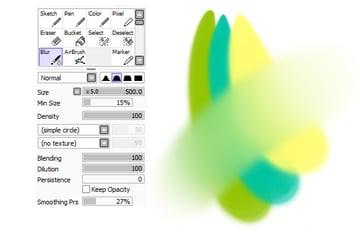 Using Blur tool