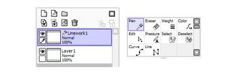 Layer Panel and Linework Panel