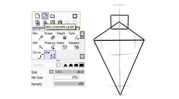 Making basic shape with Line tool