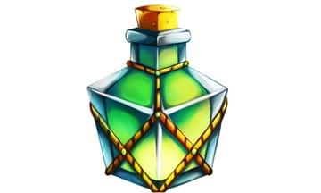 Finished rectangle shaped potion