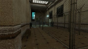 Security checkpoint in Half-Life 2