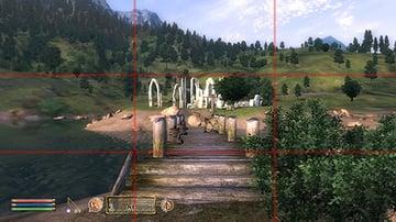 Elder Scrolls Oblivion with Rule of Thirds gridlines