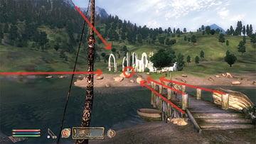 Elder Scrolls Oblivion with environmental lines highlighted