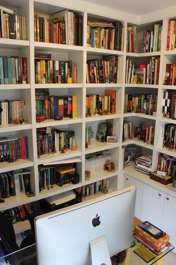 Rossettis bookshelves filled with inspiration