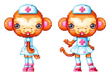 Video game style pixel sprites