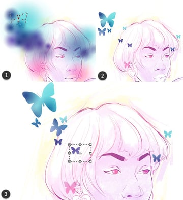 Creating butterfly stencils