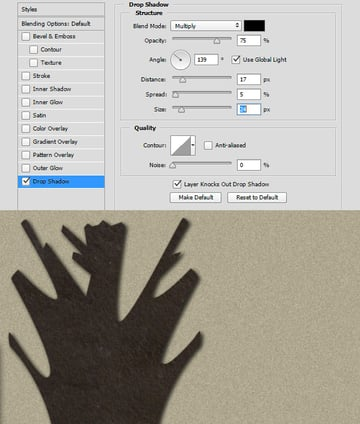Apply a Drop Shadow with Blending Options