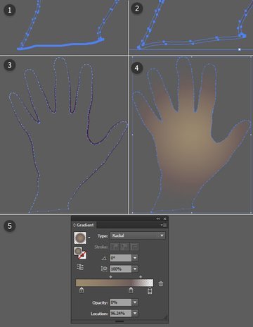 Create a background for your hand