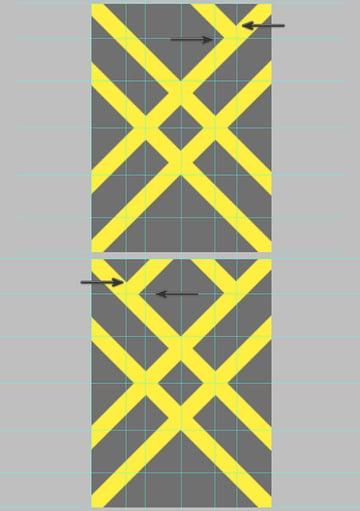 Align the shorter rectangle shapes