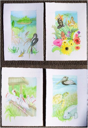Thumbnail images for larger paintings