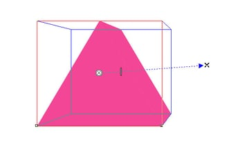 Drag your shape out to convert it to 3D