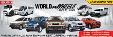 An ad for the Isuzu Auto Show created by Adrian Co and his team